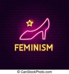 néon, féminisme, signe