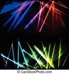 néon, glowing, raios