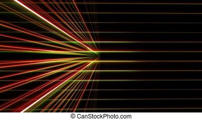 néon, ligne, 3d, espace, lumière