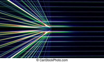 néon, ligne, 3d, lumière, espace