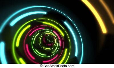 néon, lignes, coloré, fond, mouvement, résumé