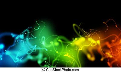 néon, lignes, fond, boucle, multicolore