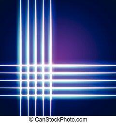 néon, luminoso, linhas, fundo