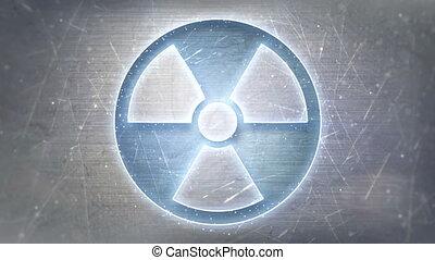 néon, radiation, métal, loopable, signe, incandescent