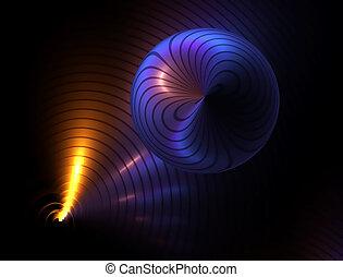 néon, reflet