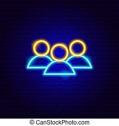 néon, ressources humaines, signe
