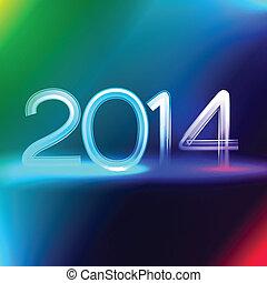 néon, style, bonne année