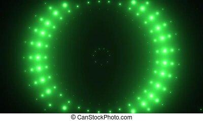 néon, vj, mené, arrière-plan vert