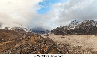 népal, montagnes, défaillance, himalaya, temps, everest, nuptse