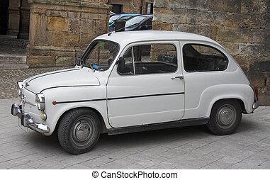 népszerű, kicsi, spanyol, család autó