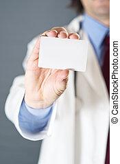 névjegykártya, orvos