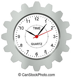 néz, noha, fém, bekapcsol, -, egy, jelkép, közül, egy, idő gép