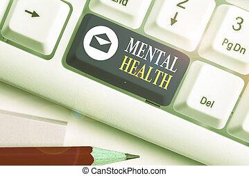 nível, foto, texto, mostrando, demonstrating., conceitual, psicológico, sinal, mental, wellbeing, estado, health., ou