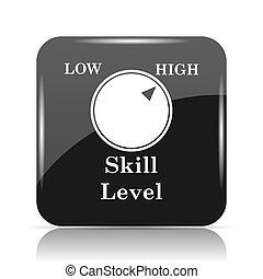 nível habilidade, ícone