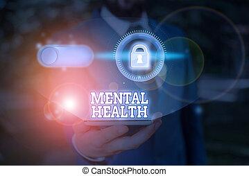 nível, health., escrita, texto, palavra, demonstrating., psicológico, mental, wellbeing, estado, conceito, ou, negócio