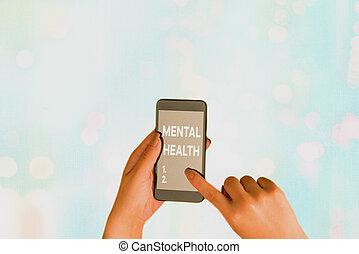 nível, health., texto, demonstrating., psicológico, mental, conceito, estado, wellbeing, significado, ou, letra