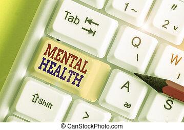 nível, showcasing, mão, foto, escrita, mostrando, demonstrating., conceitual, psicológico, mental, wellbeing, estado, health., ou, negócio