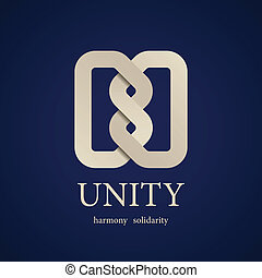 nó, símbolo, unidade, vetorial, desenho, modelo