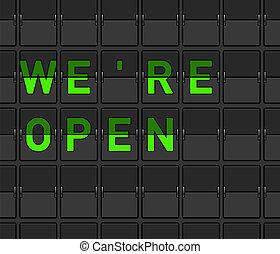 nós, abertos, tábua, inverter