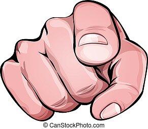 nós, apontando dedo, querer, tu, ícone