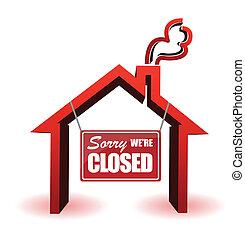 nós, arrependido, fechado, sinal negócio