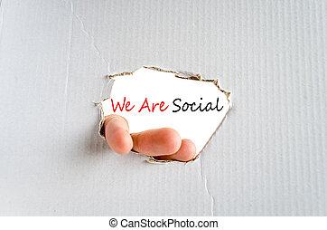 nós, conceito, social
