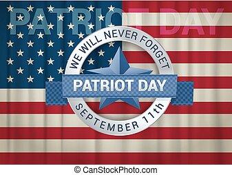 nós, esquecer, setembro, citação, nunca, patriota, dia, vontade, desenho, 11o, template.