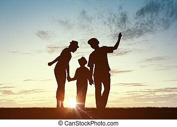 nós, família, feliz