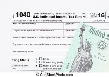 nós, forma imposto, 1040, renda, federal