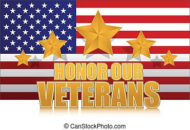 nós, honra, nosso, veterans, ouro