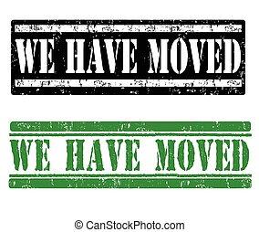 nós, movido, selos, ter