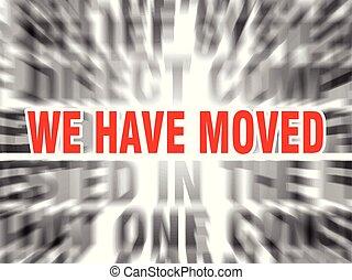 nós, movido, ter