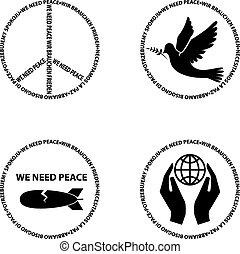 nós, necessidade, peace.eps