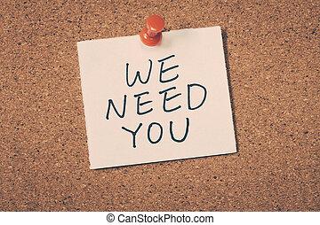 nós, necessidade, tu