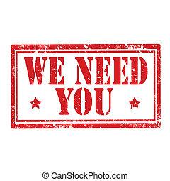 nós, necessidade, you-stamp