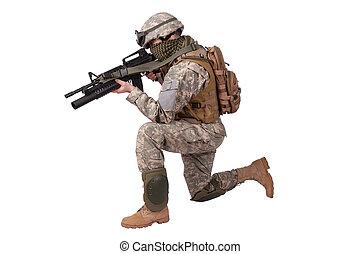 nós, soldado, ação