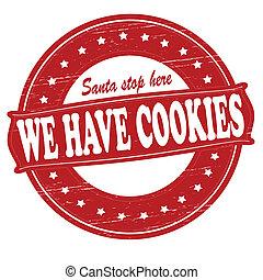 nós, ter, biscoitos