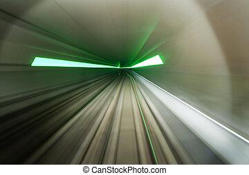 nödläge, tunnelbana, går ut