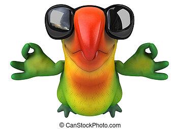 nöje, papegoja