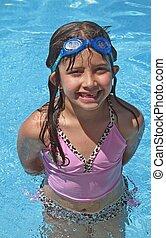 nöje, simning