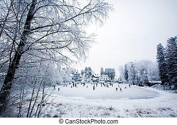 nöje, vinter