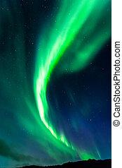 nördliche lichter, in, island