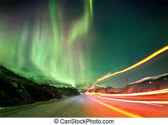 nördliches licht, spuren