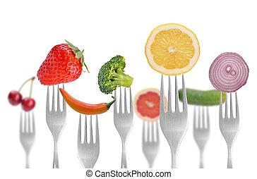 növényi, és, gyümölcs