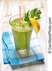 növényi juice, zöld