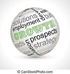 növekedés, téma, gömb, noha, keywords