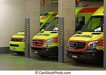 nødsituation, ambulance, tjeneste