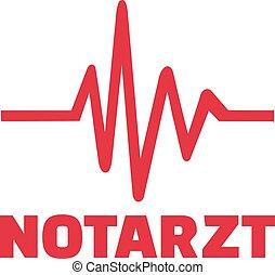 nødsituation, doktor, hos, heartline