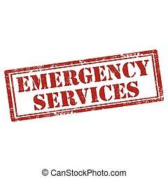 nødsituation, services-stamp