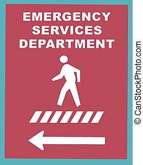 nødsituation tjeneste, crosswalk underskriv